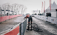 Kyle Agterberg (NED/U23) gave it his all and needed some recuperation time after finishing<br /> <br /> U23 Men's race<br /> UCI CX World Cup Namur / Belgium 2017