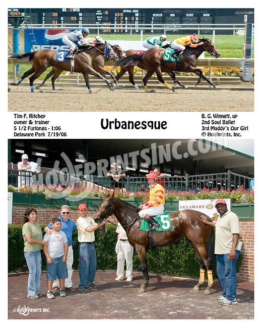 Urbanesque winning at Delaware Park on 7/19/06