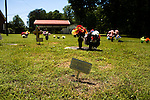 May 10, 2009. Lincolnton, NC.. In the last weeks of their deployment in Iraq, the 1451st Transportation Company of the NC National Guard lost 2 men to an IED explosion. After returning home, 4 of the surviving soldiers took their own lives.. Jeff Wilson committed suicide by overdose on December 16, 2007 after returning with the 1451st from his 3rd deployment to Iraq and being diagnosed with PTSD.  . Jeff's grave site at Rosehill Baptist Church..