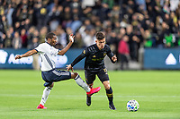LOS ANGELES, CA - MARCH 08: Brian Rodriguez #17 of LAFC against Philadelphia Union during a game between Philadelphia Union and Los Angeles FC at Banc of California Stadium on March 08, 2020 in Los Angeles, California.