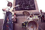 ELO 1973 film US TV show in London's Trafalgar Square<br />
