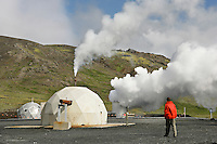 Borehole at Geothermal Power Plant, Iceland
