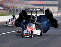 Sep 2, 2018; Clermont, IN, USA; NHRA top fuel driver Blake Alexander during qualifying for the US Nationals at Lucas Oil Raceway. Mandatory Credit: Mark J. Rebilas-USA TODAY Sports