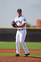 Seattle Mariners pitcher Joey Strain (80) during an instructional league intrasquad game on October 6, 2015 at the Peoria Sports Complex in Peoria, Arizona.  (Mike Janes/Four Seam Images)