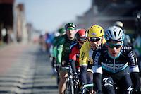 Maarten Tjallingii (NLD/LottoNL-Jumbo) shadowing peloton captain Iljo Keisse (BEL/Etixx-QuickStep)<br /> <br /> Omloop Het Nieuwsblad 2015