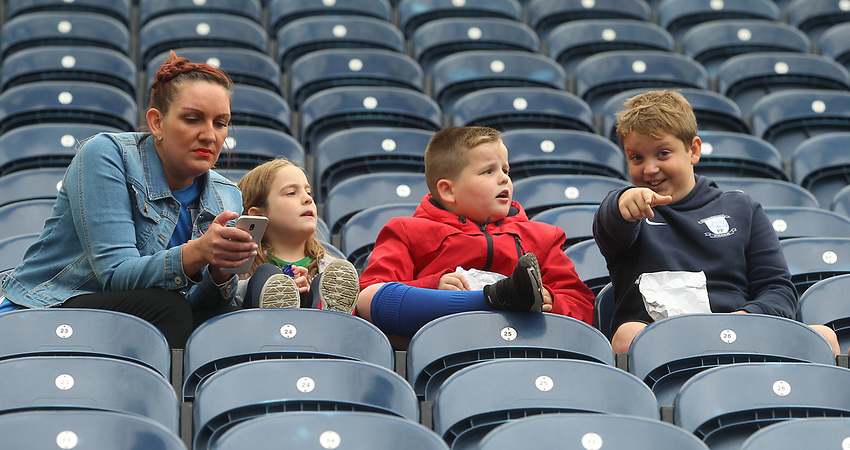 Preston North End's Fans anticipate the kick-off<br /> <br /> Photographer Mick Walker/CameraSport<br /> <br /> The EFL Sky Bet Championship - Preston North End v Wigan Athletic - Saturday 10th August 2019 - Deepdale Stadium - Preston<br /> <br /> World Copyright © 2019 CameraSport. All rights reserved. 43 Linden Ave. Countesthorpe. Leicester. England. LE8 5PG - Tel: +44 (0) 116 277 4147 - admin@camerasport.com - www.camerasport.com