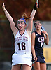 Liana McDonnell #16 of Garden City reacts after scoring a goal in the first half of the Nassau County varsity field hockey Class B final against Cold Spring Harbor at Adelphi University on Saturday, Oct. 28, 2017. Garden City won by a score of 1-0 to claim the Class B county championship
