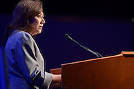 March 12, 2012  (Washington, DC)  Secretary of Labor Hilda Solis addresses attendees of the National League of Cities (NLC) Congressional City Conference at the Marriott Wardman Park Hotel in Washington.  (Photo by Don Baxter/Media Images International)