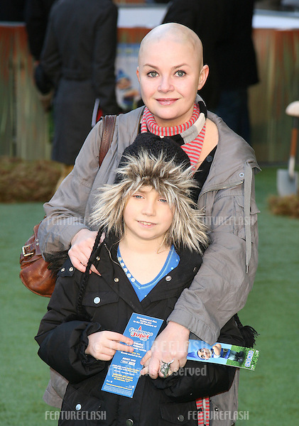 Gail Porter and daughter Honey arriving for the UK premiere of 'Gnomeo & Juliet' at the Odeon Leicester Square, London. 30/01/2011  Picture by: Alexandra Glen / Featureflash