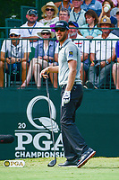 Graham DeLaet (CAN) watches his tee shot on 10 during Sunday's final round of the PGA Championship at the Quail Hollow Club in Charlotte, North Carolina. 8/13/2017.<br /> Picture: Golffile | Ken Murray<br /> <br /> <br /> All photo usage must carry mandatory copyright credit (&copy; Golffile | Ken Murray)