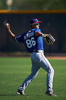 Texas Rangers Miguel Aparicio (86) during an instructional league game against the San Diego Padres on October 9, 2015 at the Surprise Stadium Training Complex in Surprise, Arizona.  (Mike Janes/Four Seam Images)