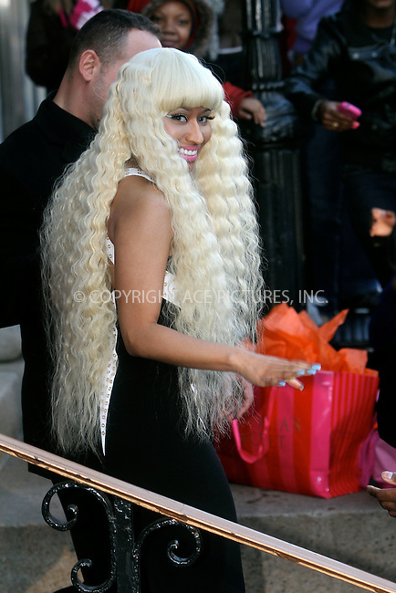 WWW.ACEPIXS.COM . . . . .  ....December 2 2011, New York City....Singer Nicki Minaj leaves an event in midtown Manhattan on December 2 2011 in New York City....Please byline: NANCY RIVERA- ACEPIXS.COM.... *** ***..Ace Pictures, Inc:  ..Tel: 646 769 0430..e-mail: info@acepixs.com..web: http://www.acepixs.com