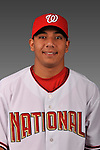 14 March 2008: ..Portrait of Francisco Plasencia, Washington Nationals Minor League player at Spring Training Camp 2008..Mandatory Photo Credit: Ed Wolfstein Photo