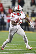 College Park, MD - November 12, 2016: Ohio State Buckeyes running back Demario McCall (30) in action during game between Ohio St. and Maryland at  Capital One Field at Maryland Stadium in College Park, MD.  (Photo by Elliott Brown/Media Images International)