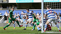 Preston North End's Greg Cunningham fails to connect to a loose ball in the penalty area<br /> <br /> Photographer Andrew Kearns/CameraSport<br /> <br /> The EFL Sky Bet Championship - Queens Park Rangers v Preston North End - Loftus Road - London<br /> <br /> World Copyright &copy; 2018 CameraSport. All rights reserved. 43 Linden Ave. Countesthorpe. Leicester. England. LE8 5PG - Tel: +44 (0) 116 277 4147 - admin@camerasport.com - www.camerasport.com