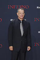 Tom Hanks attending the &quot;Inferno&quot; premiere held at CineStar, Sony Center, Potsdamer Platz, Berlin, Germany, 10.10.2016. <br /> Photo by Christopher Tamcke/insight media /MediaPunch ***FOR USA ONLY***