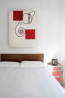 Modern wall artwork in the bedroom