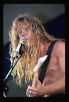 James Hetfield of Metallica performing at the Iowa Jam in Iowa. May 26, 1986. CAP/MPI/GA<br /> ©GA/MPI/Capital Pictures