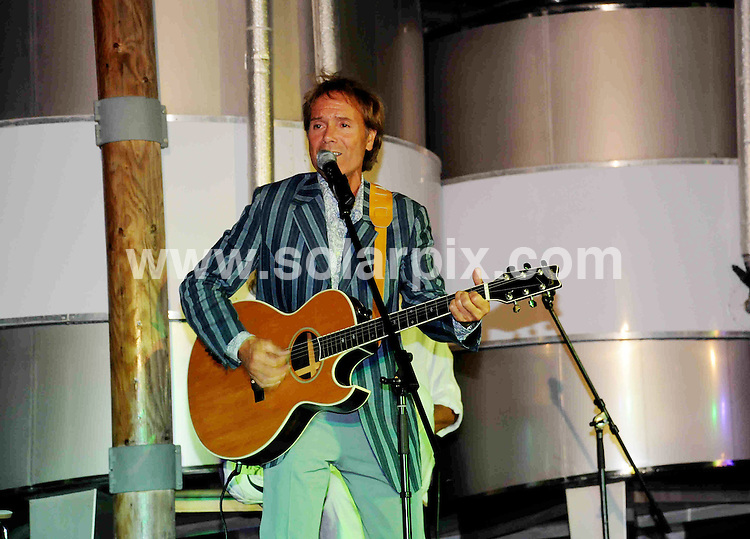 **ALL ROUND EXCLUSIVE PICTURES FROM SOLARPIX.COM**.**WORLDWIDE SYNDICATION RIGHTS**.Cliff Richard gave a concert to a hand picked audience of 150 guests  invited from all over Europe at his ultra modern wine production in the Algarve last night. He performed some of his classic hits from Living Doll and Summer Holiday as well as some of his latest hits. He announced the imminent launch of his own brand Olive Oil to go with his Algarve produced wines, as well as telling his audience about his upcoming world tour with his original backing group the Shadows. His guest were selected from his top distributors and retailers of his Vida Nova wines...This pic:Cliff Richard..JOB REF: 9722         PPL        DATE:08.08.09.**MUST CREDIT SOLARPIX.COM OR DOUBLE FEE WILL BE CHARGED**.**ONLINE USAGE FEE GBP 50.00 PER PICTURE - NOTIFICATION OF USAGE TO PHOTO @ SOLARPIX.COM**.**CALL SOLARPIX : +34 952 811 768 or LOW RATE FROM UK 0844 617 7637**
