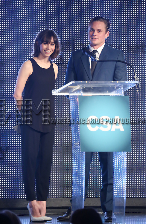 Cristin Millioti and Billy Magnussen during the 30th Annual Artios Awards Presentation at 42 WEST on January 22, 2015 in New York City.
