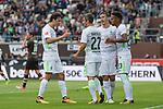 22.07.2017, Millerntor-Stadion, Hamburg, GER, FSP, FC St. Pauli vs SV Werder Bremen<br /> <br /> im Bild<br /> Fin Bartels (Werder Bremen #22) bejubelt seinen Treffer zum 1:1 Ausgleich mit Max Kruse (Werder Bremen #10), Thomas Delaney (Werder Bremen #6), Theodor Gebre Selassie (Werder Bremen #23), <br /> <br /> Foto &copy; nordphoto / Ewert