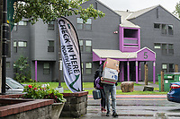 New campus housing residents move into UAA's North Hall.