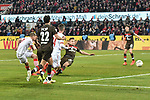 08.02.2019, Rheinenergiestadion, Köln, GER, DFL, 2. BL, VfL 1. FC Koeln vs FC St. Pauli, DFL regulations prohibit any use of photographs as image sequences and/or quasi-video<br /> <br /> im Bild Simon Terodde (#9, 1.FC Köln / Koeln)  macht das Tor zum 4:1<br /> <br /> Foto © nph/Mauelshagen