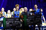 28.10.2018, TUI Arena, Hannover<br />Volleyball, Supercup, Siegerehrung<br /><br />Ehrung MVP / Wertvollste Spieler - Kimberly Drewniok (#8 Schwerin), David Sossenheimer (#5 Friedrichshafen)<br /><br />  Foto © nordphoto / Kurth