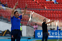 4th February 2020; National Stadium of Chile, Santiago, Chile; Libertadores Cup, Universidade de Chile versus Internacional; Universidad de Chile manager Hernán Caputto
