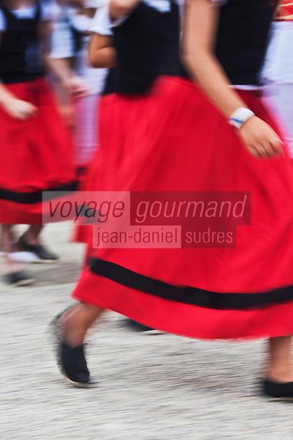 Europe/France/Aquitaine/64/Pyrénées-Atlantiques/Pays-Basque/Mauléon-Licharre: Folklore Soulettin lors de la Fête de l'Espadrille le  15 Aout