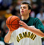 12 December 2010: University of Vermont Catamount guard Brendan Bald, a Sophomore from Millersville, MD, warms up prior to game action against the Marist College Red Foxes at Patrick Gymnasium in Burlington, Vermont. The Catamounts (7-2) defeated the Red Foxes  75-67 notching their 7th win of the season, and their best start since the '63-'64 season. Mandatory Credit: Ed Wolfstein Photo