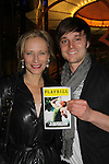 "All My Children Laila Robins ""Claire Williams"" mom to ""Reece"" poses with Jay Sullivan (in play) and both were on Good Wife at Opening Night of Broadway's Jerusalem on April 21, 2011 at the Music Box Theatre, New York City, New York. (Photo by Sue Coflin/Max Photos)"