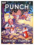 Front cover of   Punch Magazine , Summer Number  - 1937 , by Illingworth ...