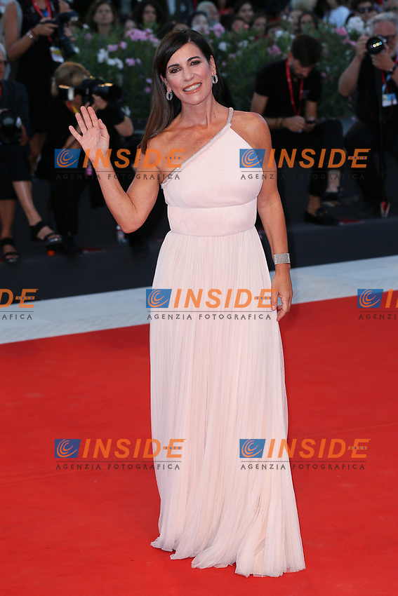 "VENICE, ITALY - SEPTEMBER 04: Paola Turci walks the red carpet ahead of the ""Lan Xin Da Ju Yuan"" (Saturday Fiction) screening during the 76th Venice Film Festival at Sala Grande on September 04, 2019 in Venice, Italy. (Photo by Ernesto Ruscio/Insidefoto)<br /> Venezia 04/09/2019"