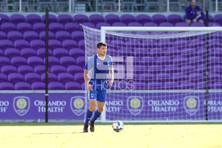 Orlando, Florida - Monday January 15, 2018: Tomas Hillard-Arce. Match Day 2 of the 2018 adidas MLS Player Combine was held Orlando City Stadium.