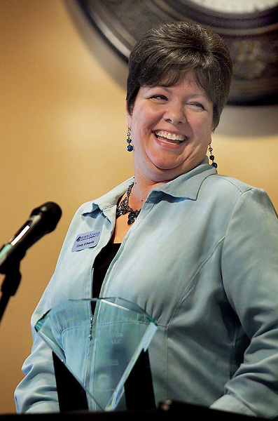 Cindy Edwards, owner of By His Design, was named the Small Business Person of the Year at the Jacksonville Onslow Chamber of Commerce breakfast held at the Onslow Community Hospital.