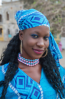 "Senegalese Dancer at Opening Ceremony for Goree Arts Festival, the ""Regard sur Cours"" Biannual Celebration.  Goree Island, Senegal."