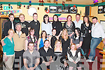 KEY OF THE DOOR: Katie Ryan, Ballyline, Ballylongford (seated 2nd from right), celebrated her 21st birthday with family and friends in The Horse and Hound Bar, Ballylongford on Saturday night.   Copyright Kerry's Eye 2008