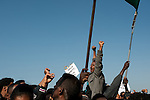 African asylum-seekers protest in front of the US Embassy in Tel Aviv, Israel, calling the US to help them receive recognition from the Israeli government as refugees.