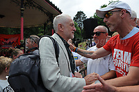 "Labour leader Jeremy Corbyn meets supporters during ""The Bevan Festival"" celebrating the 70th Anniversary of the National Health Service. <br /> <br /> Tredegar, South Wales, Sunday 1st July 2018 <br /> <br /> <br /> Jeff Thomas Photography -  www.jaypics.photoshelter.com - <br /> e-mail swansea1001@hotmail.co.uk -<br /> Mob: 07837 386244 -"