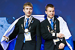 Lille - France- 05 October 2014 --  Euroskills 2014 competition, closing ceremony and medals. -- Team Finland - Esa Varemo (le) and Tapio Immonen (oik), kultaa, Gold medalists, elektroniikka / electronics. -- PHOTO: SkillsFinland / Juha ROININEN - EUP-IMAGES