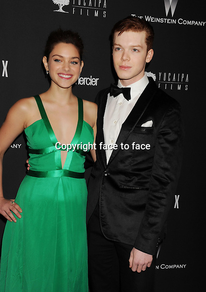 BEVERLY HILLS, CA- JANUARY 12: Actors Odeya Rush (L) and Cameron Monaghan attend The Weinstein Company &amp; Netflix 2014 Golden Globes After Party held at The Beverly Hilton Hotel on January 12, 2014 in Beverly Hills, California.<br /> Credit: Mayer/face to face<br /> - No Rights for USA, Canada and France -