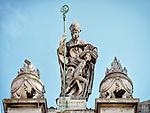 Façade cornice, Parrocchia Santa Maria in Porto, Roman Catholic Church, Ravenna, Italy