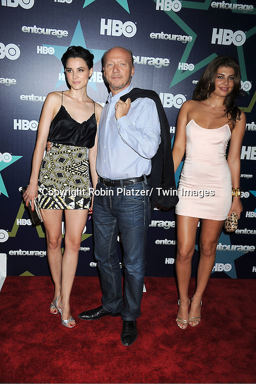 """Paul Haggis and Loan Chabanal and Angela Martini attending The Eighth and Final Season Premiere of the HBO Show """"Entourage"""" on July 19, 2011 at The Beacon Theatre in New York City."""