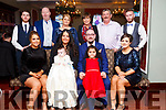 Baby Ella Barry with her parents, god parents and grand parents  at her Christening Party in the Imperial Hotel on last Saturday. Front l-r, Sharon Somers (Godmother), Rebecca Barry (Mom), Ray Barry (Father), Eva Byrene (sister) and Noelle Carroll (godmother).<br /> Back l-r, Darrell Burn (Godfather), Rory Burn, Sandra Burn, Ann Barry, Ray Barry and Brian Barry (Godfather).