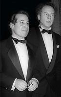 Paul Simon and Art Garfunkel <br /> 1990 Rock and Roll Hall of Fame<br /> Photo By John Barrett/PHOTOlink