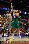 03 APR 2012:  Kayla McBride (23) of the University of Notre Dame shoots over Destiny Williams (10) of Baylor University during the Division I Women's Basketball Championship held at the Pepsi Center in Denver, CO.  Jamie Schwaberow/NCAA Photos