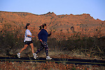 Fitness walking at Snow Canyon State Park, Ivins, Utah's Dixie; near St. George, UTAH