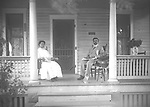Summer Porch Scene: The house at 1821 South 16th Street was the home of Julius and Tillie Miller in 1912 and 1913. He was listed as a glazier with a glass company as well as a laborer.<br />