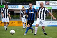 ASSEN - Voetbal - ACV - Hercules, KNVB beker, seizoen 2017-2018, 19-08-2017, Nick Westebring (l) in duel met Jeffrey Vlug